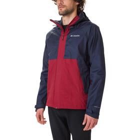 Columbia Evolution Valley Jacket Men collegiate navy heather/red jasper